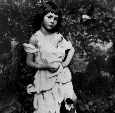 In addition to writing, Lewis Carroll was a photographer. The girl in this one of his photographs is Alice Liddell for whom he wrote Alice in Wonderland. Alice stayed across the road at Whitecliff House.