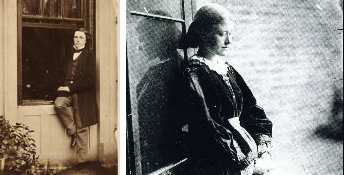 Lewis Carroll (left) and Ellen Terry, photographed by Carroll (right)