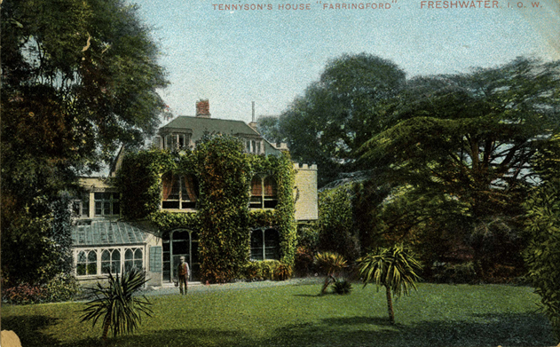 A postcard of Farringford House.
