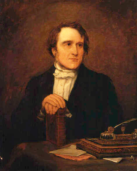 Portrait of Reverend Frederick Denison Maurice by Jane Mary Hayward from 1854
