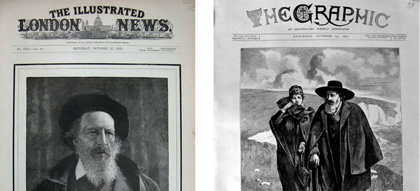 Tennyson on newspaper front pages