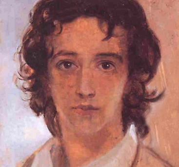 G.F. Watts (1817 - 1904). Self-portrait aged around 17.