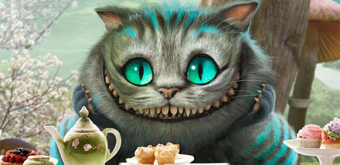 The Cheshire Cat from the recent film based on Lewis Carroll's famous story, Alice in Wonderland.