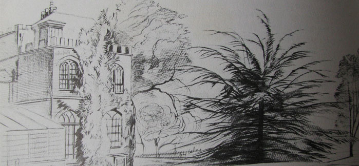 Farringford House by Edward Lear